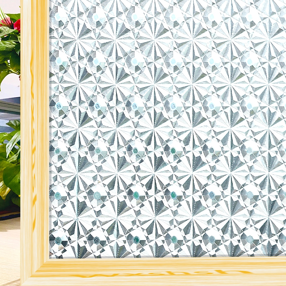 Frosted Window Film Anti Looking Privacy Stained Glass Vinyl Self Adhesive Film Static Insulation Window Sticker for Door Home