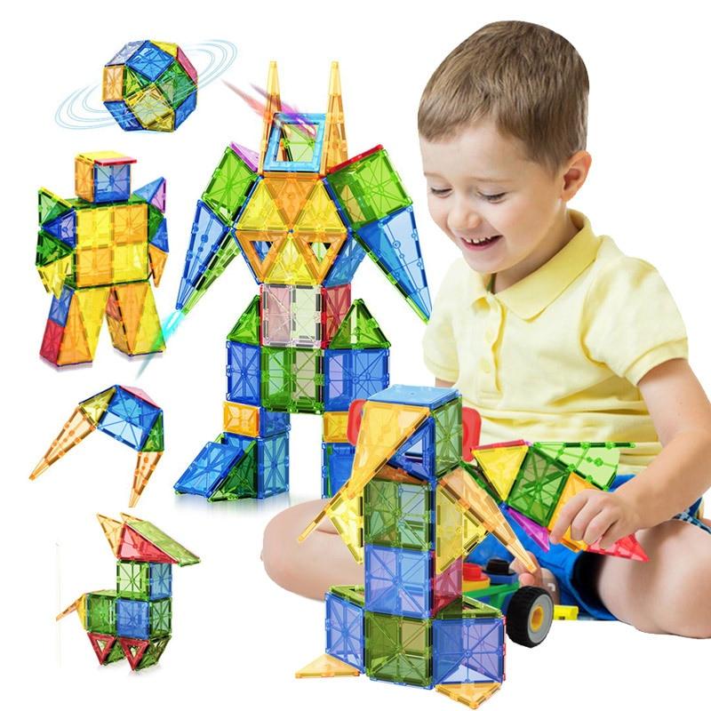 Tile Magnetic Building Blocks Bricks Magnetic Tiles Constructor Technic Games Magnet Toy Model Educational Toys For Children magnetic blocks constructor toys for kids mini building magnet games children s designer educational toy for boys girls gift