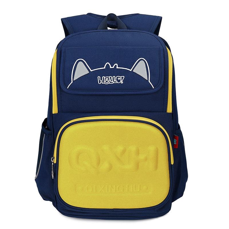 Детские школьные ранцы для мальчиков и девочек, ортопедический Школьный рюкзак, Водонепроницаемый Школьный рюкзак, Детская сумка-портфель ...