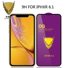 100 шт Золотой защитный чехол с ОГ большие изогнутые полный клей для iphone 12 Pro Max/12/11 pro/xr/xs max/678 Plus/5s закаленное стекло O F