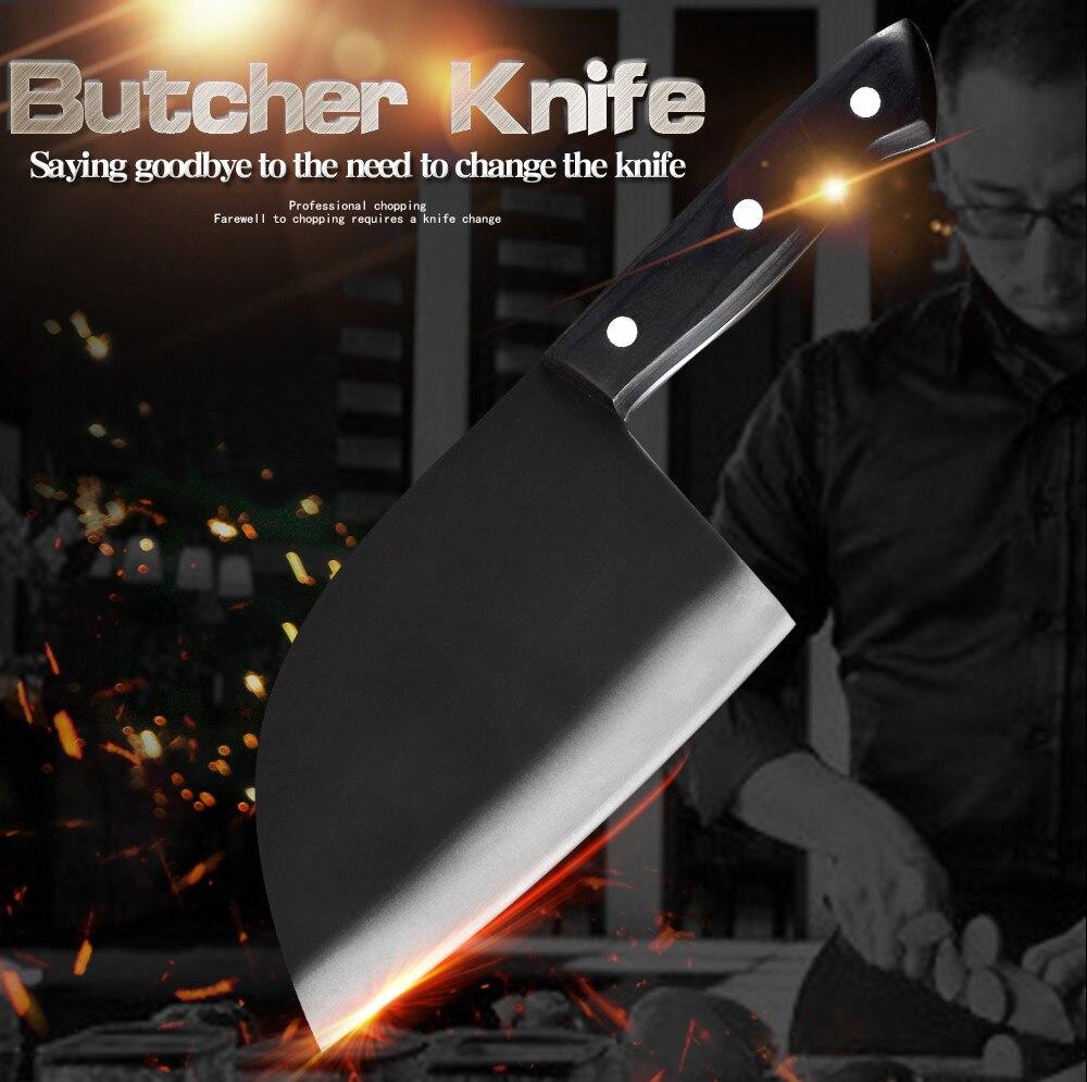 SOWOLL-سكين جزار 7cr17 من الفولاذ المقاوم للصدأ ، للطاهي الصربي ، اللحوم ، الخضار ، المطبخ ، التخييم ، الصيد ، الشواء