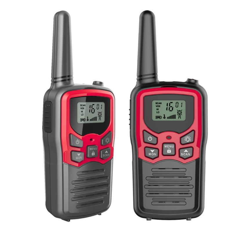 Walkie Talkies for Adults Long Range 2 Pack 2-Way Radios Up to 5 Miles Range in Open Field 22 Channel FRS/GMRS Walkie UHF HX6A
