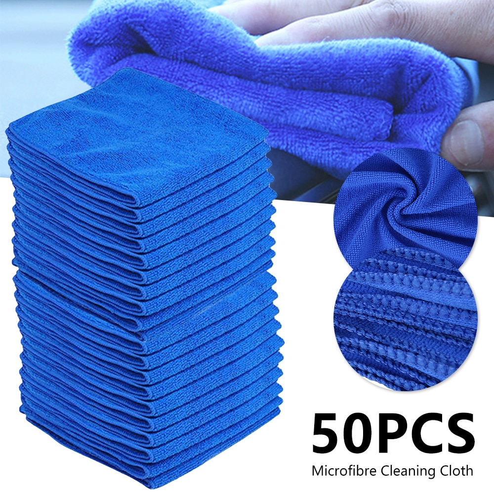 Auto Care Wash Tools 50pcs Polishes Paint Cleaner Thick Plush Microfiber Car Cleaning Microfibre Wax Polishing Detailing Towels