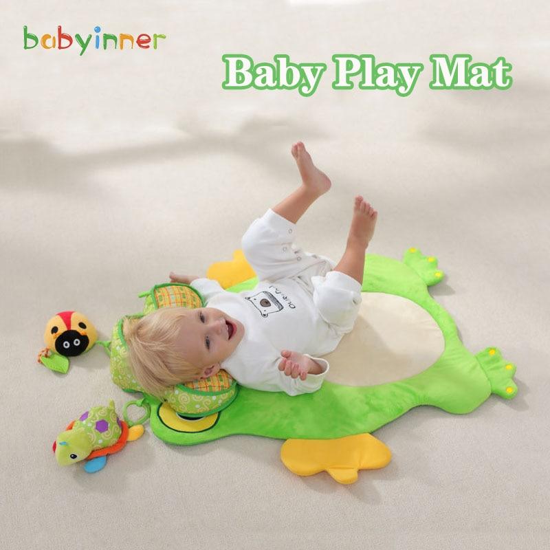 Детские игровые коврики babyinside, красочные Мультяшные коврики лягушки, детский коврик для раннего развития, детские коврики, одеяло для полза...