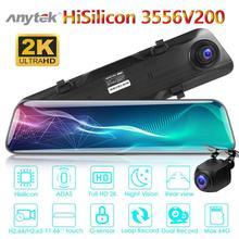 Anytek A9 HD 1440p Car Dash Cam Rear View Mirror DVR Camera Dual Lens ADAS Full-screen Video Registrator