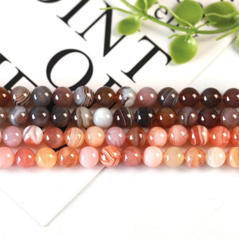 Alta qualidade natural botswana agates pedra suave redondo 4/6/8/10/12/14mm colar pulseira jóias gemas soltas contas 15 Polegada wk63