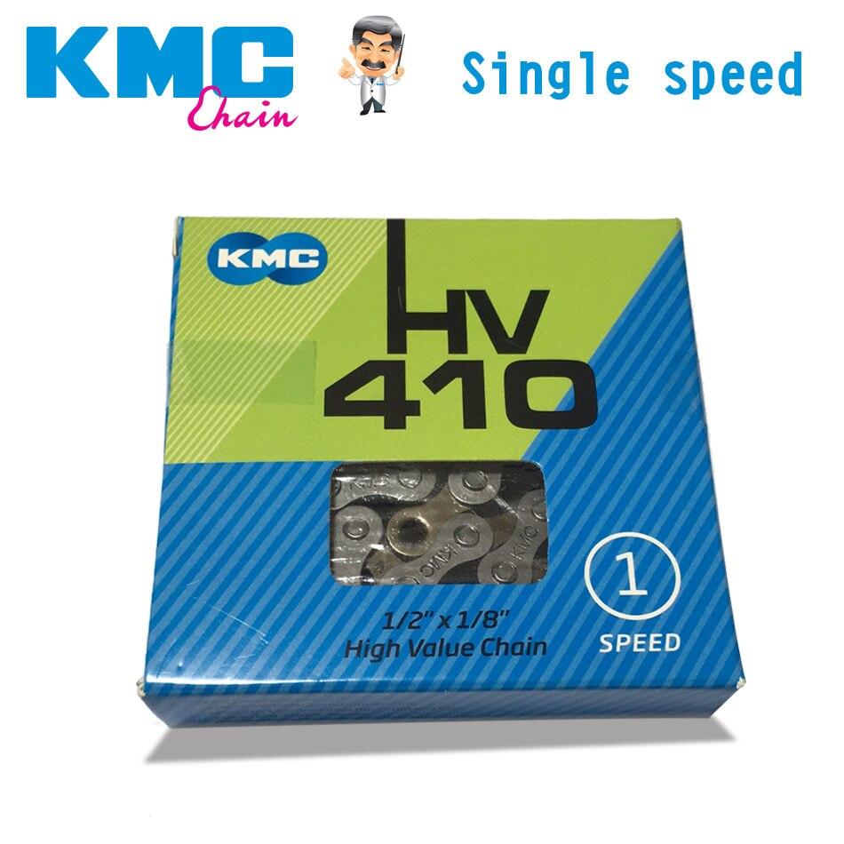 Kmc hv410 todos os sistemas de acionamento de velocidade única corrente da bicicleta dead fly bicicleta dobrável urbano lazer bicicleta 112l prata cinza