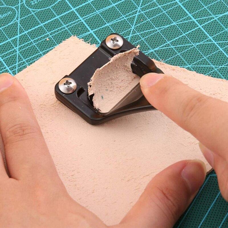 Couro de liga afiada skaver com aperto confortável conveniente ferramenta de trabalho de couro diy que faz o ofício de desbaste de couro
