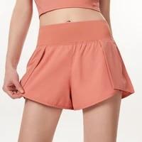 high waist yoga shorts women 2 in 1 butt scrunch skirted running short quick dry sexy skirt gym workout short leggings sportwear