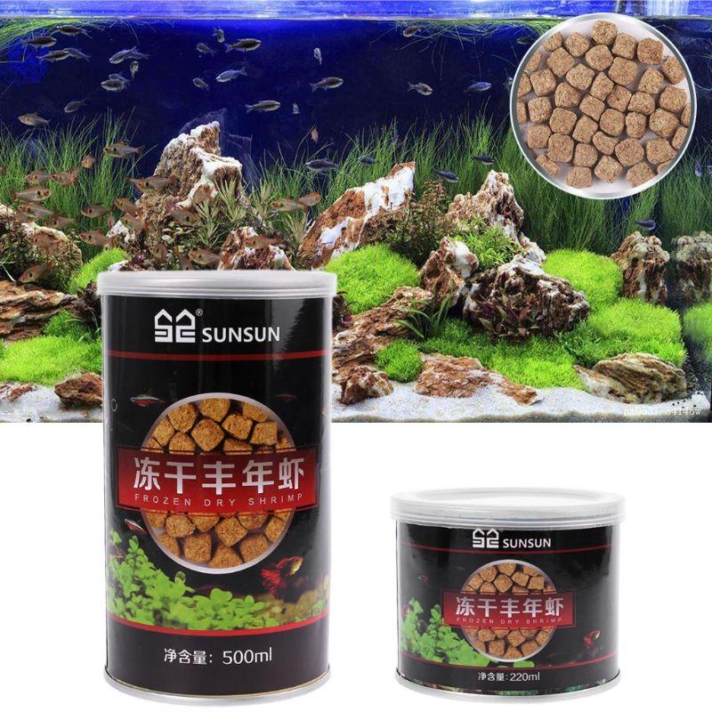 220 мл/500 мл аквариум Замороженные сушеные яйца креветки тропические маленькие морские рыбки питание Betta Гуппи рептилия, черепаха корм для домашних животных C42