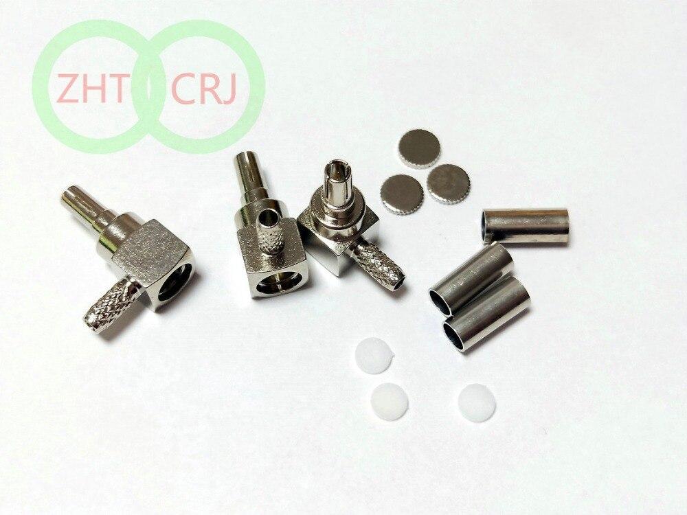 500 قطعة CRC9 ذكر الزاوية اليمنى تجعيد ل RG58 RG142 LMR195 موصل بيع