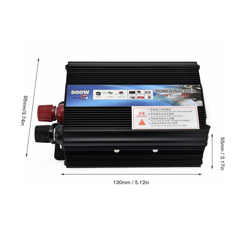XUYUAN Car Inverter DC 12V AC 220V 50Hz Auto Inverter 500W Solar Power Inverter Charger Converter Transformer System