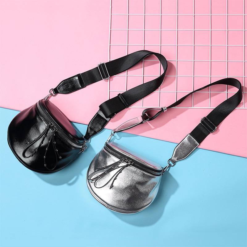REALER women crossbody bags 2019 small shoulder bag female wide strap soft PU leather handbag female messenger bags for ladies