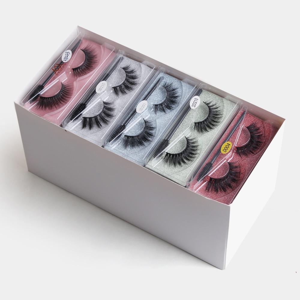 Wholesale Mink Eyelashes False Eyelashes Lash Box Mink Lashes in Pack with Logo Thick Eyelash Lashes Packaging Faux Mink Lashes