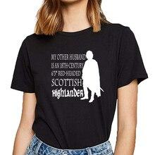 Hauts t-shirt femmes autre mari outlander mode blanc court femme t-shirt