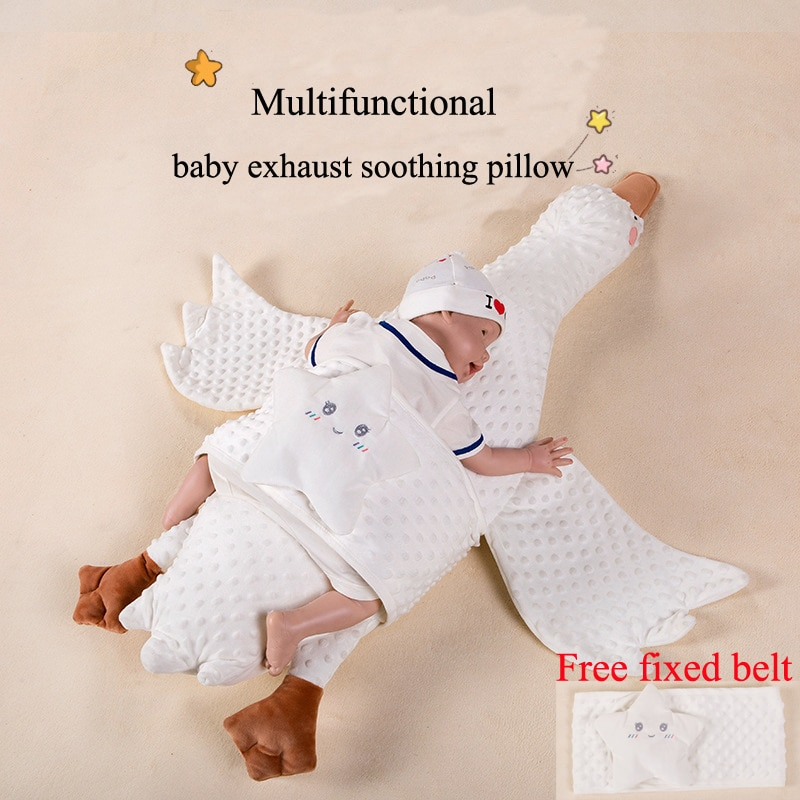 2021 Creative Big White Goose Baby Exhaust Pillow To Relieve Intestinal Colic Soothing Pillow To Sleep Anti-Rollover Baby Pillow