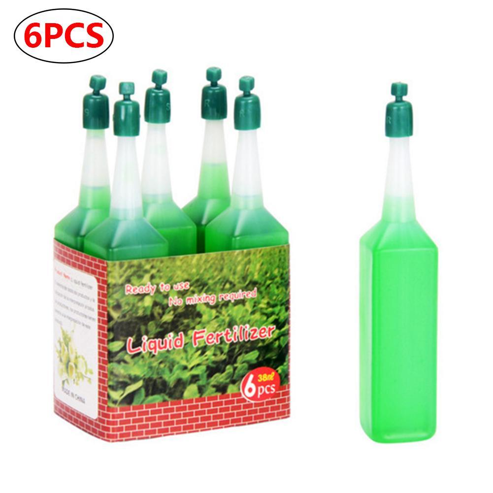Solución nutriente hidropónica de 38ml para plantas, fertilizante de flores de bambú, fertilizante de semillas Foliar concentradas en maceta verde, 6 unidades