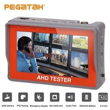 Testeur de câble AHD 4.3 pouces   Caméra analogique 1080P test de sortie 12V1A PTZ UTP, testeur de câble PTZ UTP moniteur Audio vidéo AHD, testeur de vidéosurveillance
