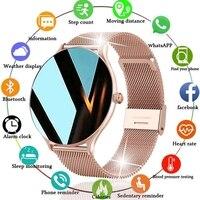 LIGE 2021 новые женские умные часы женские модные часы мониторинг сердечного ритма сна для Android IOS водонепроницаемые женские умные часы + коробк...