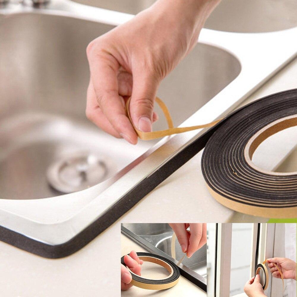 Самоклеящаяся клейкая лента для кухни, Пылезащитная и водонепроницаемая уплотнительная лента для окна, стеклянной двери, прокладки для шкафа