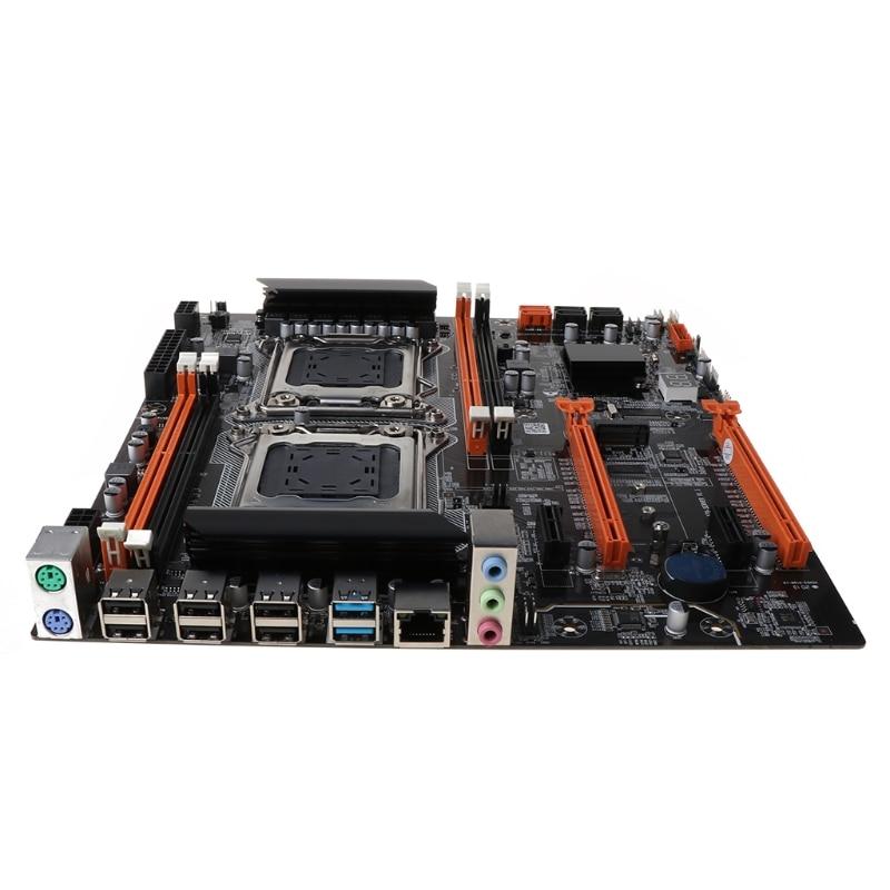 R58A X79 المزدوج وحدة المعالجة المركزية LGA2011 اللوحة E5 DDR3 1866/1600/1333/1066MHz كمبيوتر مكتبي اللوحة M.2 واجهة SATA USB 3.0 بطاقة