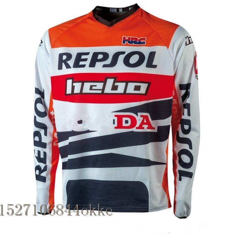Motocross Jersey Downhil Mountain Bike DH Shirt MX Motorcycle Clothing FIT PRO MONTESA REPSOL Jersey