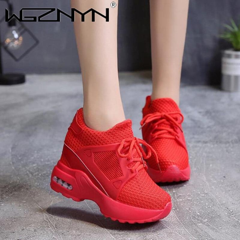 Zapatillas deportivas con plataforma Para Mujer, Tenis femeninos de malla transpirable, Calzado...