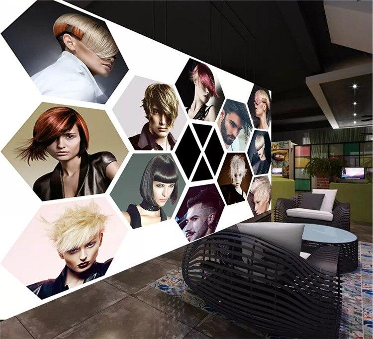 Papel De pared personalizado 3D moderno salón De belleza foto Mural barbería decoración Papel tapiz Papel De Parede 3D