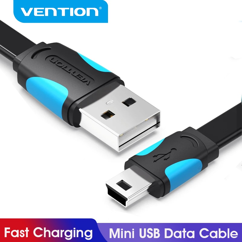 Vention Mini USB Cable Fast Charging USB to Mini USB Data Cable for Digital Camera HDD MP3 MP4 Playe