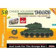 Dragón 9158 chino 1/35 voluntarios T-34/85 w/chino voluntarios-Escala modelo Kit