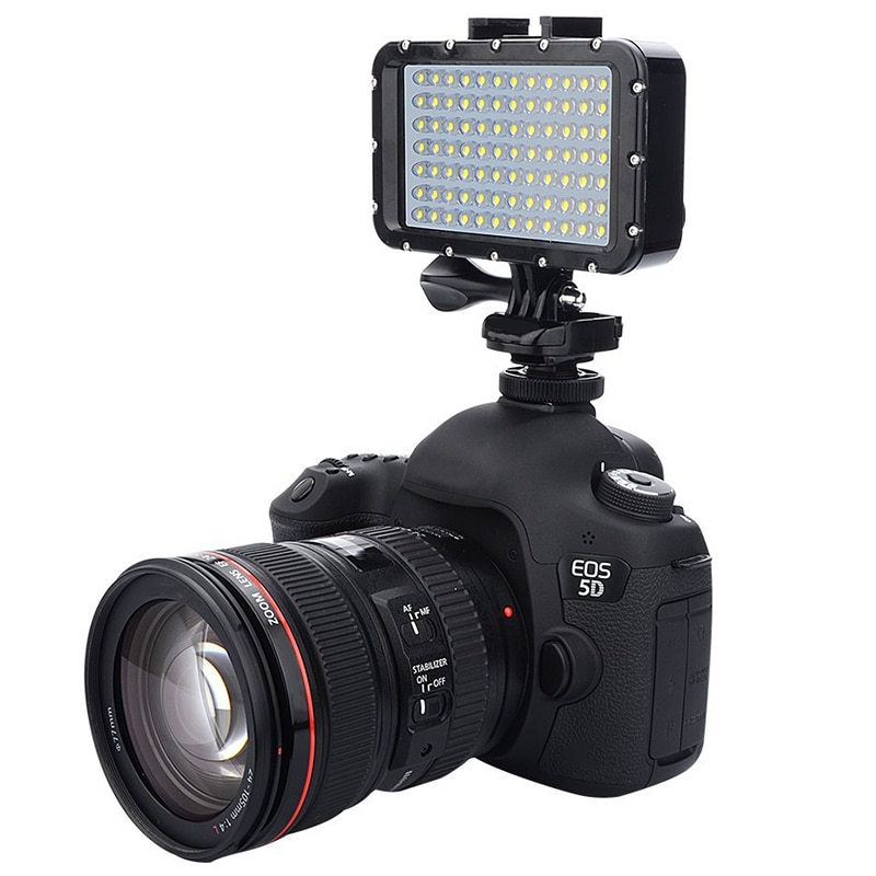 Adaptador de luz de montaje adaptador de montura de zapata fría para cámara SLR Gopro Luz de Cámara y otras cámaras de acción (paquete de 2)