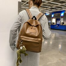 Hong Kong retro ladies bag 2021 new simple and versatile large capacity backpack fashion schoolbag m
