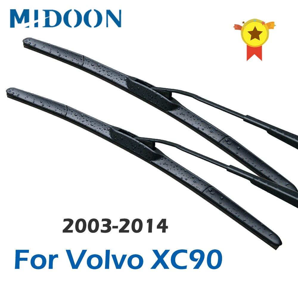 MIDOON limpiaparabrisas delanteros para Volvo XC90 2002, 2003, 2004, 2005, 2006, 2007, 2008, 2009, 2010, 2011, 2012, 2013, 2014