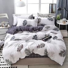 Lanke ensembles de literie en coton, Textile à la maison double roi reine taille ensemble de lit literie avec drap de lit ensemble de couette taie doreiller