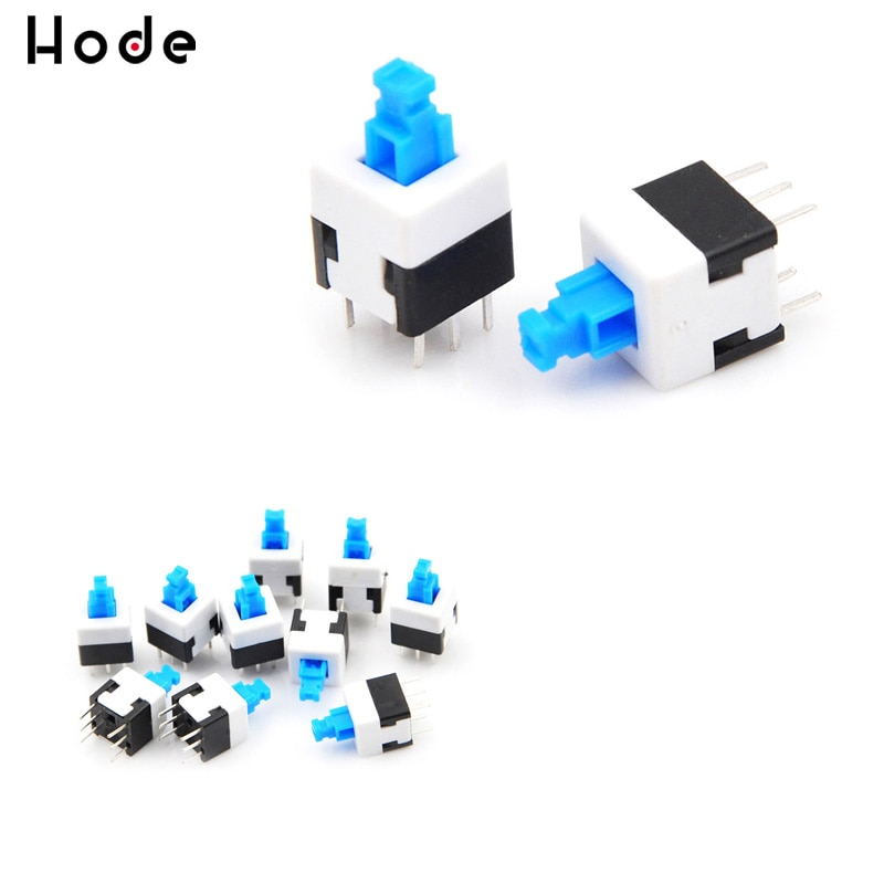 10 шт./лот самоблокирующийся мультиметр квадратный 6 Pin 8x8 Микро Мини кнопочный переключатель