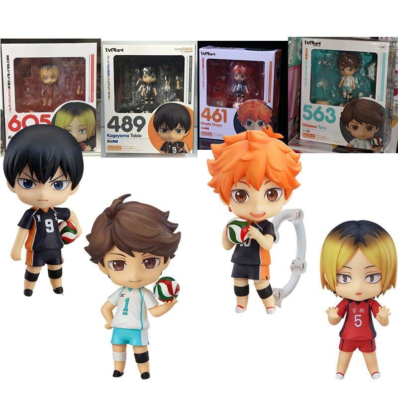 Anime figura haikyuu hinata shoyo kageyama tobio oikawa tooru kozume kenma bonito esporte de ação crianças brinquedos boneca