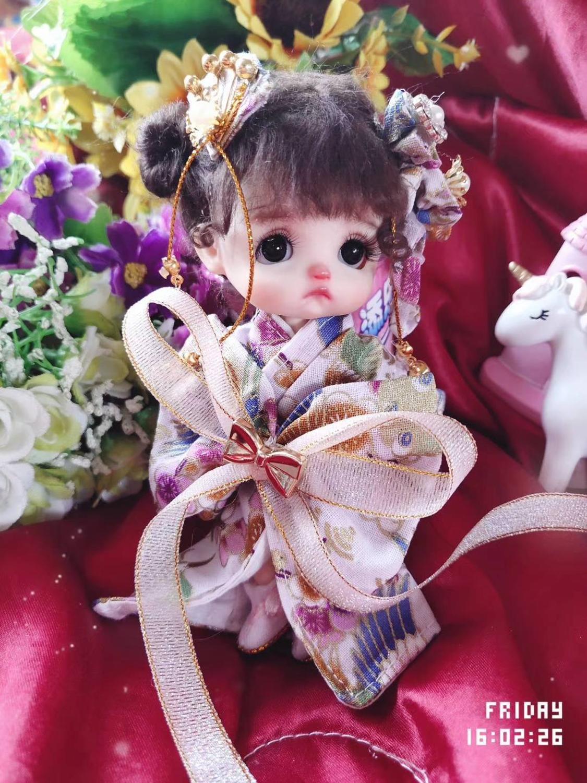 OB11 muñecas ropa de cuerpo huevos muñecas ropa Kimono