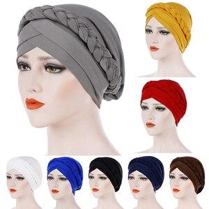 Turban Hat Cotton Muslim Turban Scarf for Women Islamic Inner Hijab Headwear Arab Wrap Head Scarf Femme Hair Accessories Hat