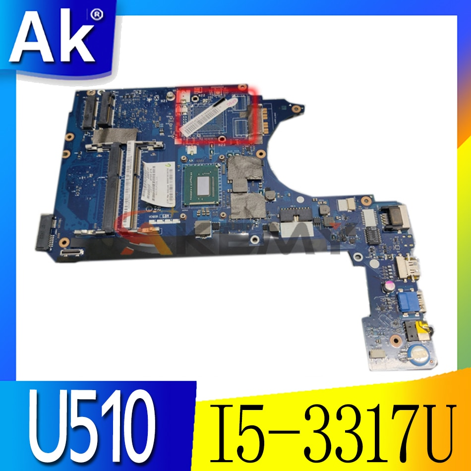 Akemy اللوحة الأم لأجهزة الكمبيوتر المحمول لينوفو ideapad U510 اللوحة الأم 90001812 VITU5 LA-8971P REV 1.0 SR0N8 I5-3317U وحدة المعالجة المركزية