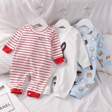 Baby Onesies Spring And Autumn Pure Cotton Baby Crawling Clothes Children's Romper Baby Clothes