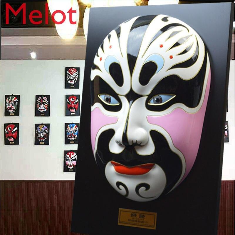 Large Peking Opera Facial Mask Pendant Flower Face Decoration Opera