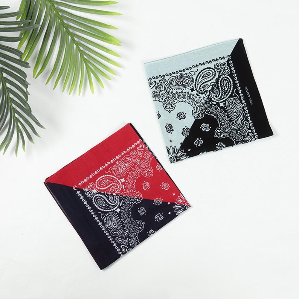 Imixlot Unisex Hip-hop Schwarz Rot Weiß Mode Bandanas Baumwolle Platz Handgelenk Wrap Multi-funktion Gedruckt Taschentuch