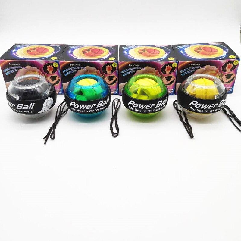Iluminado bola para la muñeca de bola de poder mano fortalecer entrenador luminosa ejercicios de deportes Aparato de Fitness muscular Relex