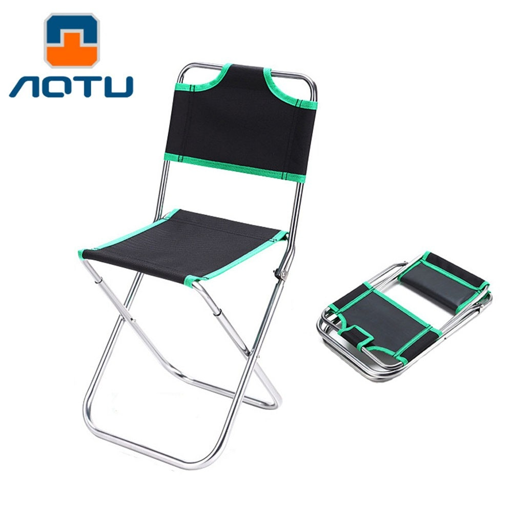 Outdoor Camping Chair Portable Folding Camping Seat For Fishing Festival Picnic BBQ Beach Ultralight Chair Backrest Stool