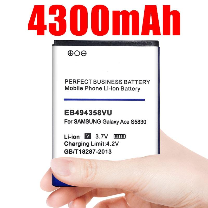 Batería EB494358VU de 4300mAh para Samsung Galaxy Ace