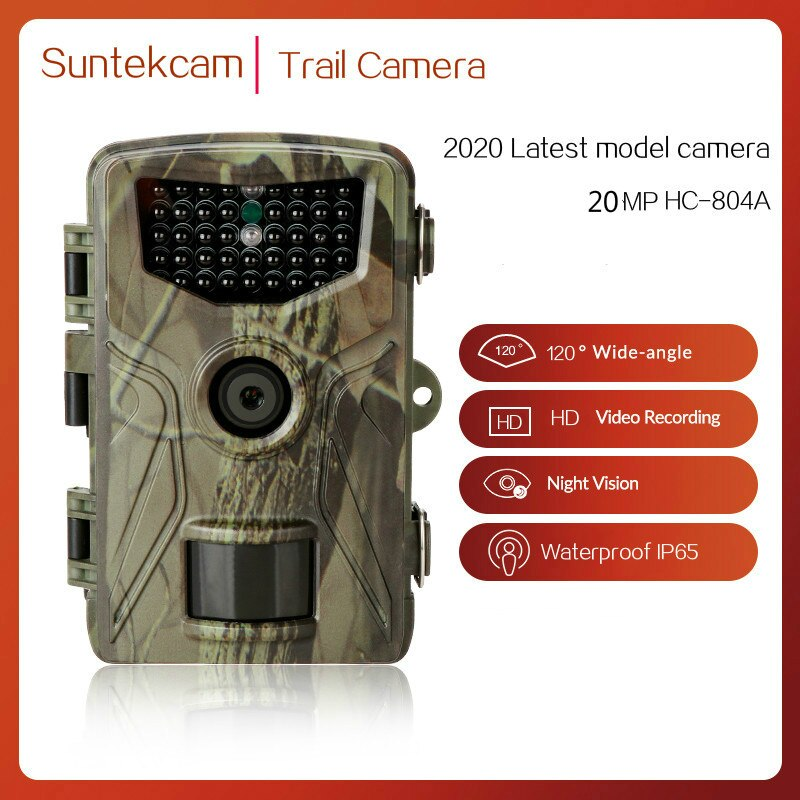 HC804A 20MP Hunting Trail Camera Wildlife Camera Night Vision Motion Activated Outdoor Trail Camera Trigger Wildlife Scouting