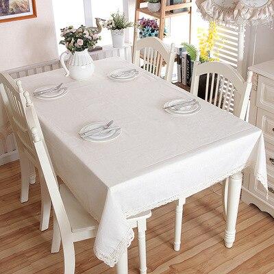 Mantel de mesa blanco de Color liso, mantel de moda para sala...