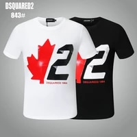 dsquared2 new mens womens printed lettersround neck short sleeve street hip hop pure cottond2 tee dsq2 t shirt 843