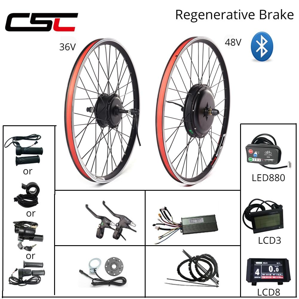 eBIKE Conversion Kit 20-29 inch 700C Electric Bicycle Conversion Kit 48V 1000W 1500W 36V 250W 500W Front Rear Hub Motor Wheel