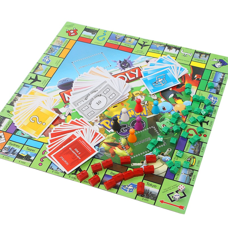 Настольная игра с покемоном на английском языке, настольная игра, семейная вечеринка, день рождения, покемон Пикачу, аниме, настольная игра, ...